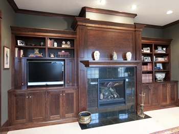 Entertainment Center Cherry Flush Inset
