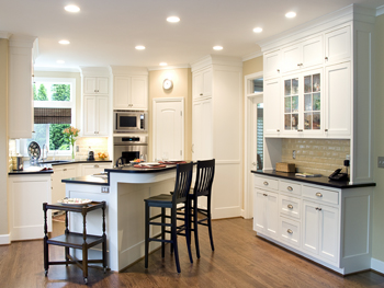 Kitchen White Flush Inset Paint Grade