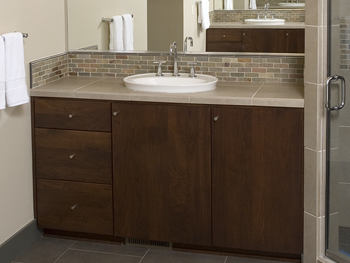 Bathroom Autumn Blush Walnut European