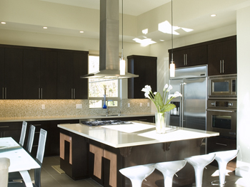 Contemporary Alder Kitchen with Ebony Stain