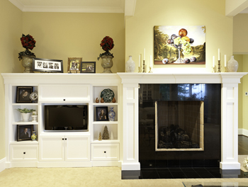 Painted Living Room Cabinetry